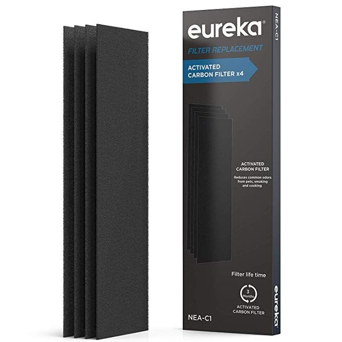 Eureka Air Purifier Nea C1 Activated Carbon Filter X 4 Replacement For Instantclear Nea120 Filter4 Black Review