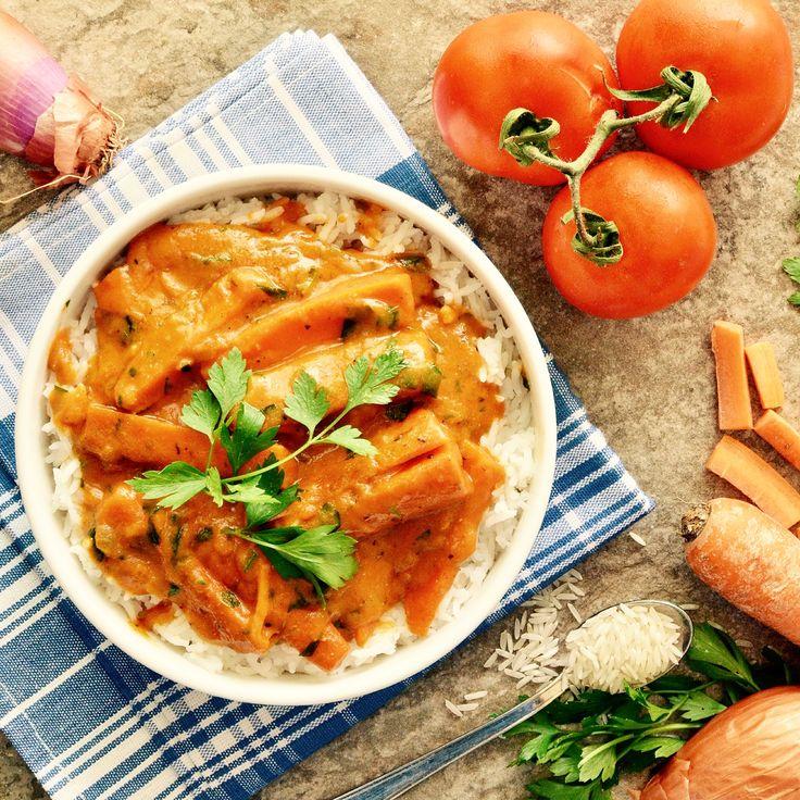 Morot stroganoff med ris! Receptet finns i meny 11.  www.allaater.se