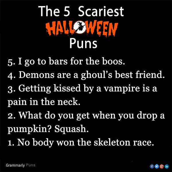 the 5 scariest halloween puns - Halloween Pubs
