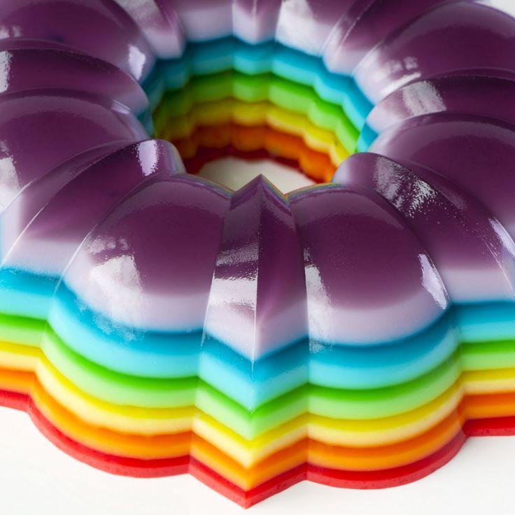 Recetas Shot Jelly | Jelly disparo de prueba Cocina: De espiga del arco iris de la jalea del molde