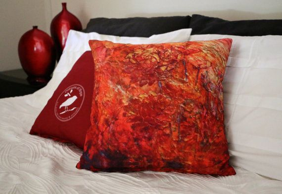 Fragrance of Hope: Cushion | Handmade | Painting Design | Throw pillow | $65 http://coloursofhope.com.au/store?category=cushion