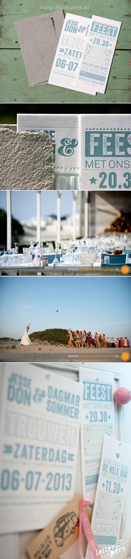 watch wedding invitation movie online eng sub%0A letterpers letterpress trouwkaart JesseenDagmar lichtgroen zomers typografisch strand preeg     Wedding CardsWedding InvitationsWinter