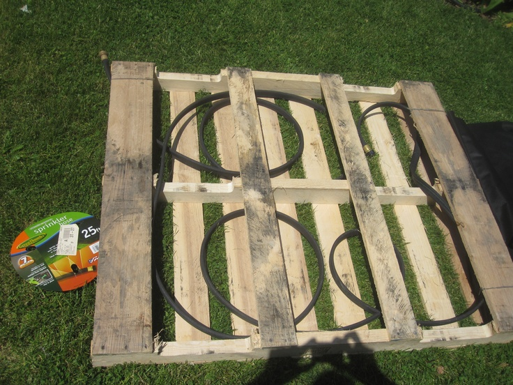 Pallet Garden Ideas 40 best gardening with pallets images on pinterest pallets garden my strawberry garden i put a soaker hose inside the pallet have been watering workwithnaturefo