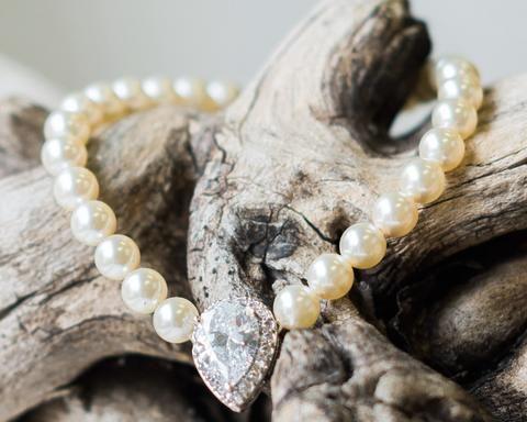 Teardrop Crystal & Pearl Bracelet, Alisha