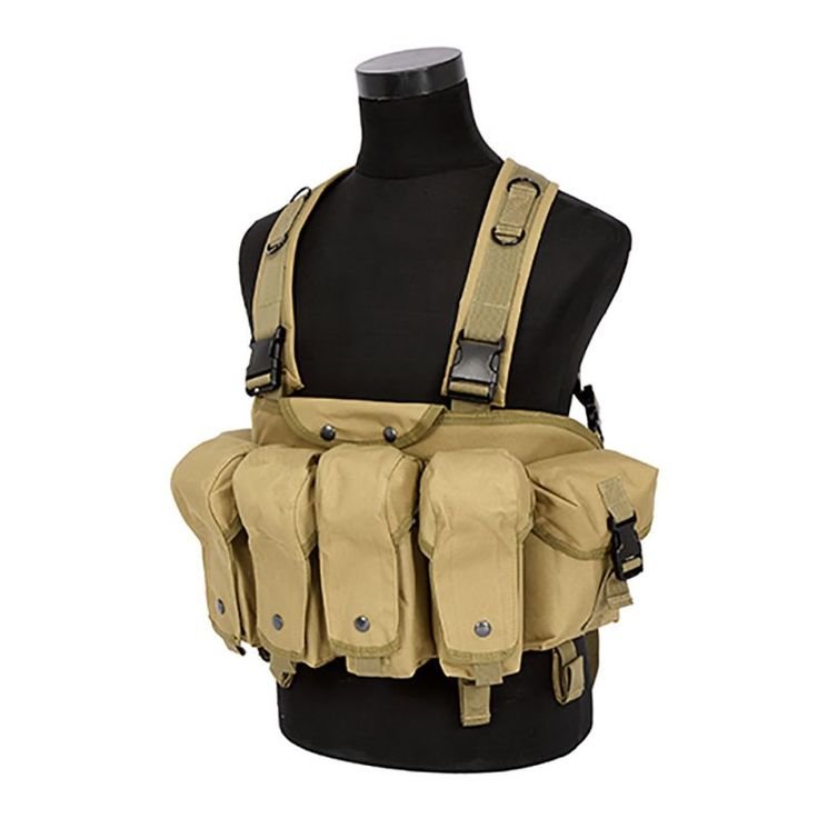 Outdoor Hunting Bag Military Camouflage Tactical Vest Airsoft Ammo Chest Rig AK 47 Magazine Carrier Combat Backpack