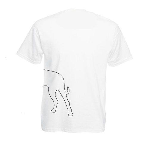 Dog körvonal-Szeretem a kutyámat feliratos férfi póló-Több színbe.Kerek nyakú, rövid ujjú póló. A póló Fruit of the Loom márka 100% pamut.Elején és hátán mintával.