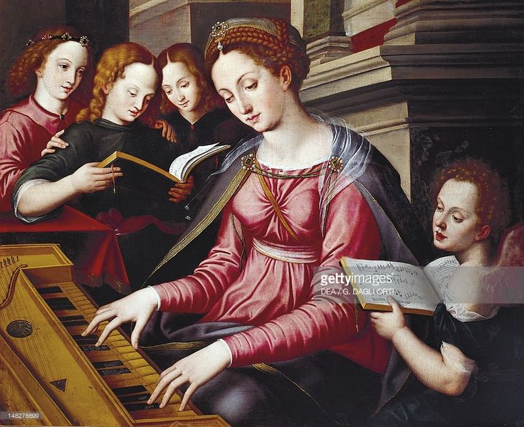 St Cecilia at the spinet, by Sandro Botticelli school (ca 1444-1510). (Photo by DeAgostini/Getty Images); . - Pinterest
