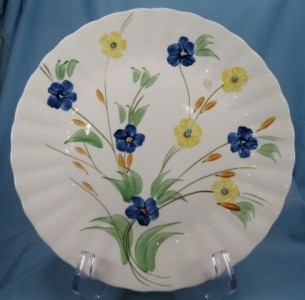 Dinner Plate Multicolor Flowers Blue Ridge Southern Pottery O & 195 best Blue Ridge/Southern Potteries images on Pinterest | Blue ...