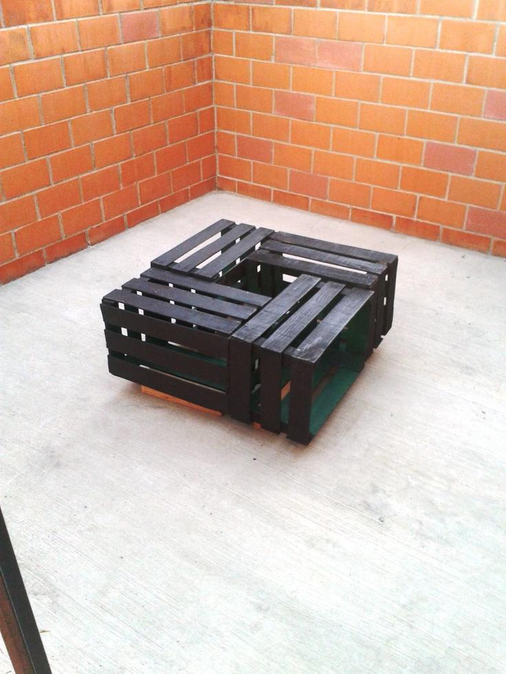 Hermosa mesa con rejas de madera vainilla y chocolate for Rejas de madera
