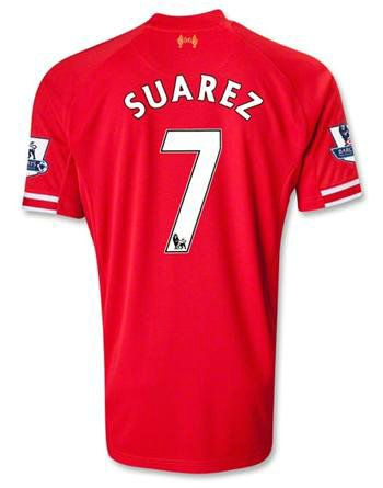 Luis Suarez 2013 Soccer Jersey and Shorts Set - Youth Youth Size Youth  Extra Small to 6 Year Old.) Youth Small to 8 Year Old.) Youth Medium to 10  Year Old.) ...