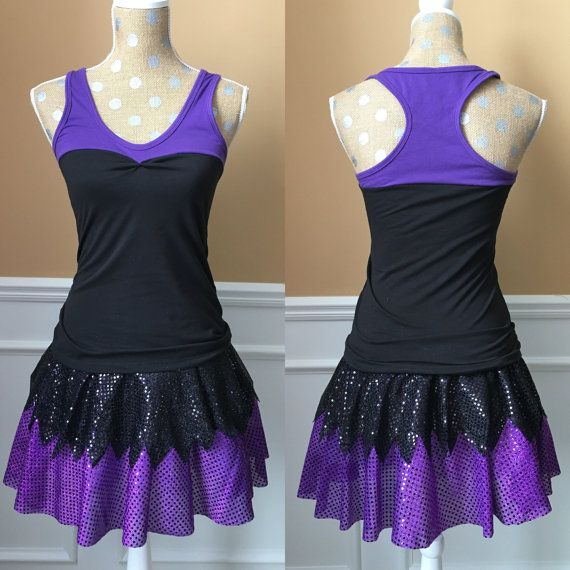 Purple and Black Villain inspired running by Fit4aPrincessShop