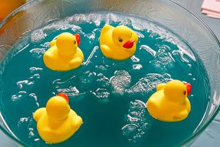 Duck pond punch. Tips for creating a baby shower (decor, games, prizes, food) for 12 guests for under $100.