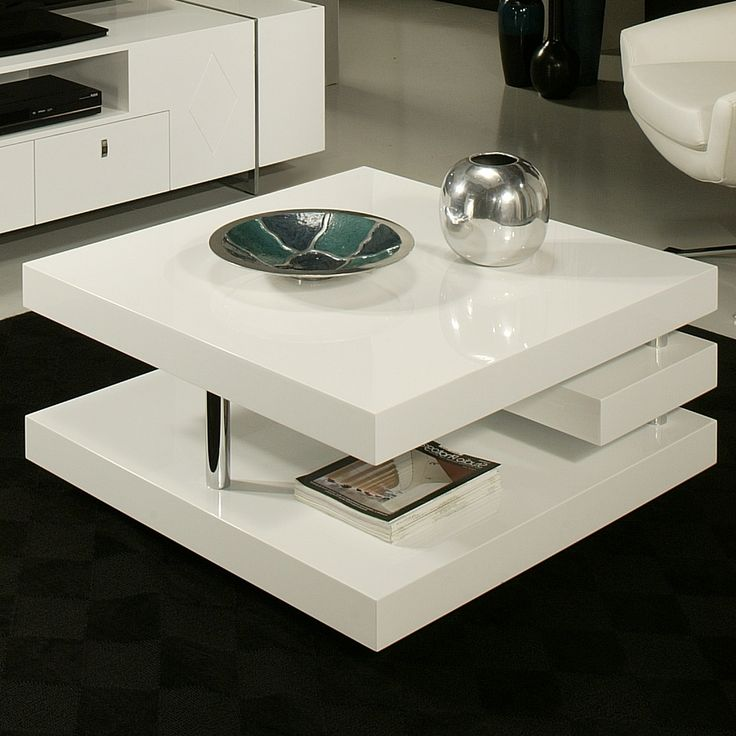 Verona Extendable High Gloss Coffee Table In White: Viceroy Coffee Table