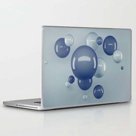 Flying Bubbles Laptop & iPad Skin #OksanaAriskina #OksanaAriskinaFineArtPhotography #Artworks #FineArtPhotography #HomeDecor #FineArtPrints #FineArtAbstract #3D #Abstract #ArtForSale #Bubbles #Ball #Sphere #DigitalArt #3DMax #Society6 #Laptop #iPad