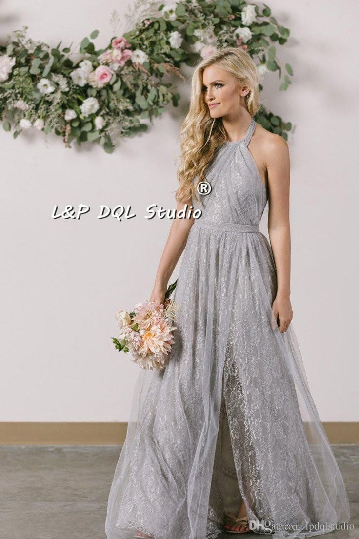 597 best bridesmaid dresses images on pinterest bridesmaid fairy lace bridesmaid dresses pleats tulle sexy side split backless pleats tulle long wedding party dresses floor length light grayburgundy ombrellifo Choice Image