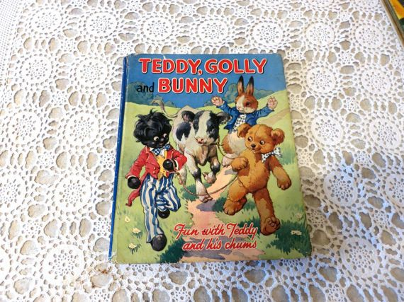 50s Teddy, Golly & Bunny book, Constance Wickham, C50s,  children's book, vintage book, illustrated, rare book, 317/71
