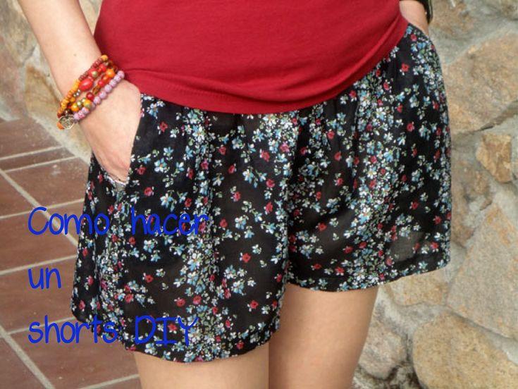 Como hacer un shorts: (Patrón o moldes gratis). Hazlo tu misma. Diy