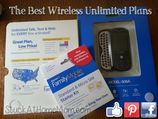 The Best Wireless Unlimited Plans [Talk and Text] #FamilyMobileSaves #shop #cbias http://stuckathomemom.com/back-to-school-2/best-wireless-unlimited-plans-talk-text/