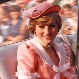 Princess Diana in her honeymoon outfit........DIANA LOOKS A LOT HEAVIER HERE........UNHAPPY LIFE WITH CHARLES CERTAINLY SKINNIED HER DOWN