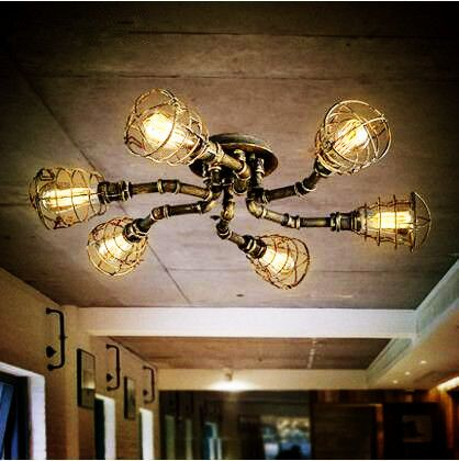 home office ceiling lighting. Style Loft Industrial Retro Vintage Ceiling Lights For Home Lighting Edison Water Pipe LED Light Luminaire Plafonnier Office Idea AliExpress