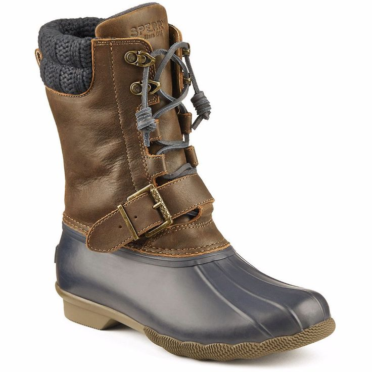 Women's Saltwater Misty Duck Boot in Navy/Brown by Sperry #$100-to-$200 #10 #6