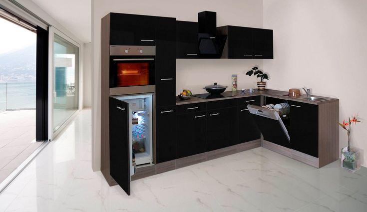 Kuchenzeile Mit E Geraten York Winkelkuche Breite 310x172cm Offene Kuche Und Wohnzimmer Kuche L Form Und Kuchen Design