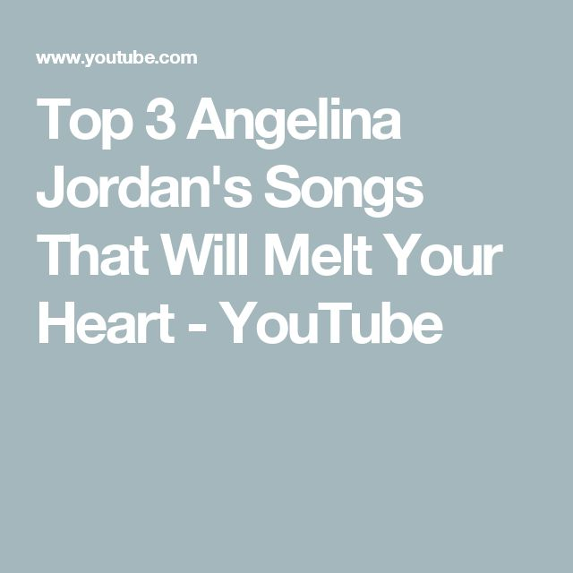 Top 3 Angelina Jordan's Songs That Will Melt Your Heart - YouTube