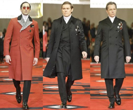 Adrien Brody, Willem Dafoe and Gary Oldman on the Prada runway... the height of cool