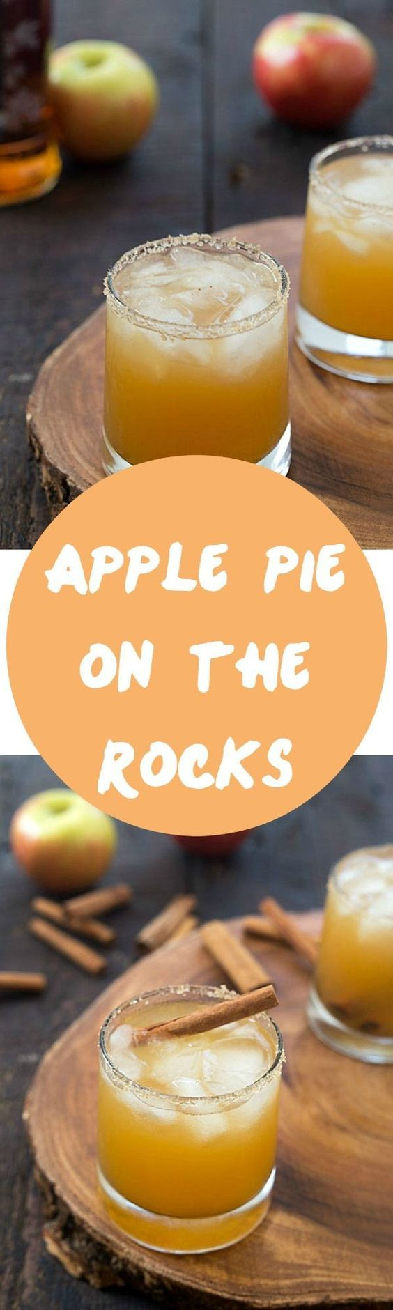 Apple Pie on the Rocks - The perfect cocktail for autumn and Thanksgiving! #ad (easy alcoholic drinks happy hour)