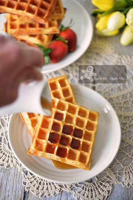 Bake for Happy Kids: No or Low Fat Yogurt Waffles (Two Recipes)