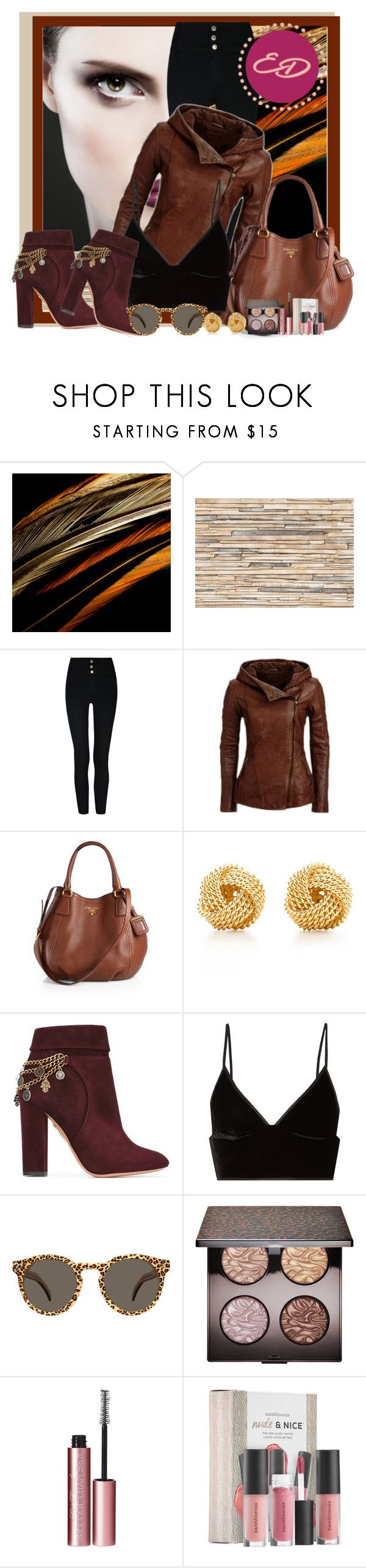 Esther Desir entree by mango27 on Polyvore featuring T By Alexander Wang, Aquazzura, Prada, Tiffany & Co., Illesteva, Laura Mercier, Sephora Collection and Brewster Home Fashions