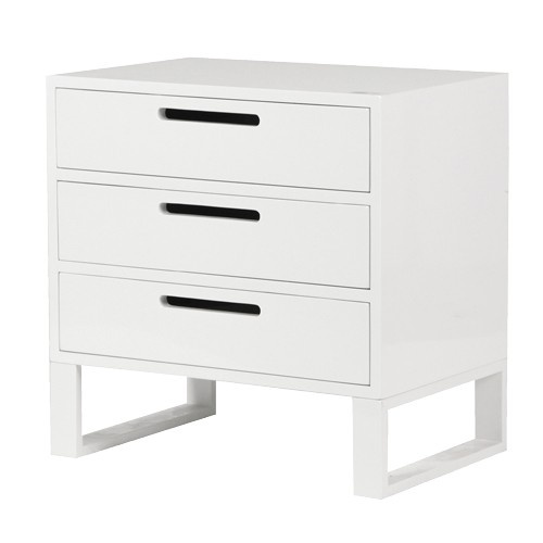 high gloss white side cabinet buy from the french furniture specialist