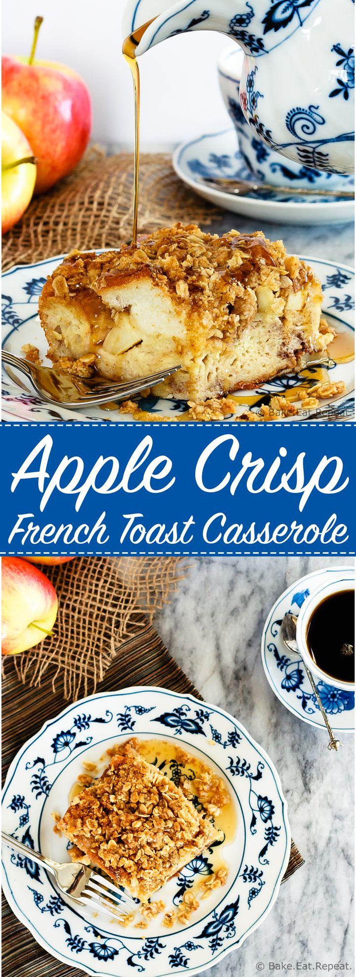 Apple Crisp French Toast Casserole