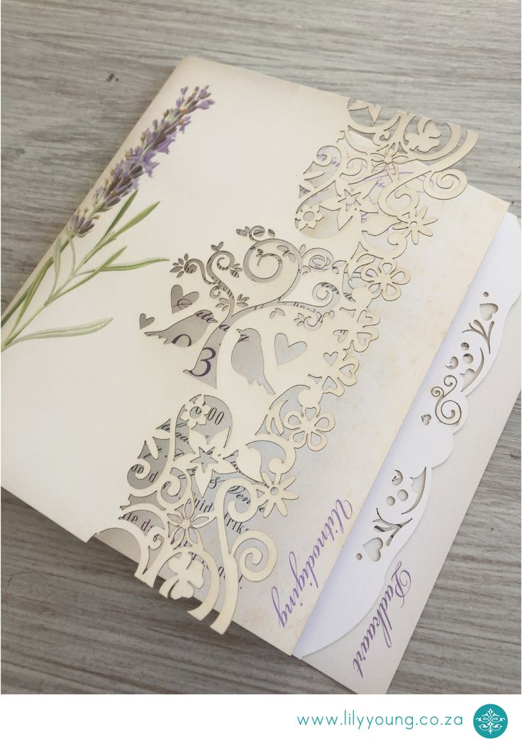 Stunning Booklet For A Wedding Invitation Or Program/order Of Service.