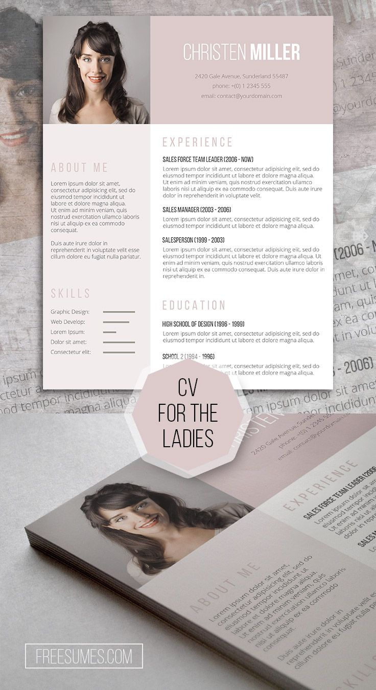 Cv Templates Design%0A Free Resume Template for the Ladies  The Vintage Rose