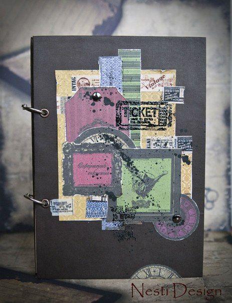 man's notebook
