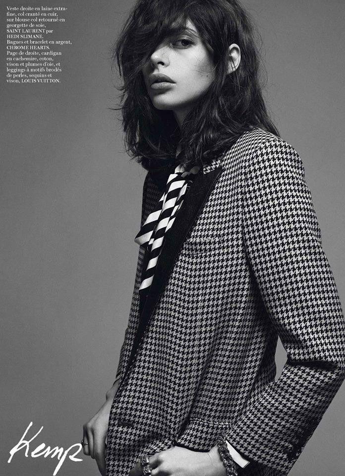 Charlotte Kemp Muhl in the February 2014 edition of Vogue Paris.