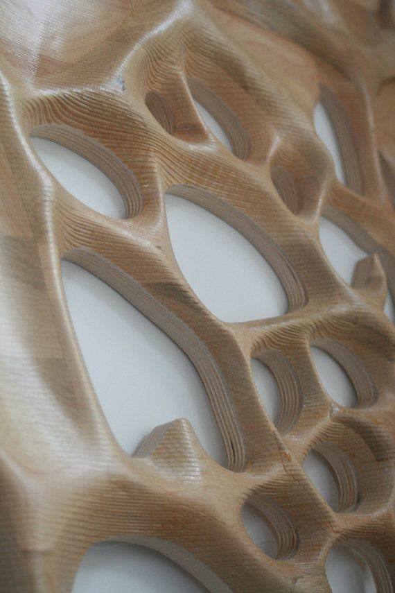 Wall hanging 3D CNC milled Maple wood от NardineDesignStudio