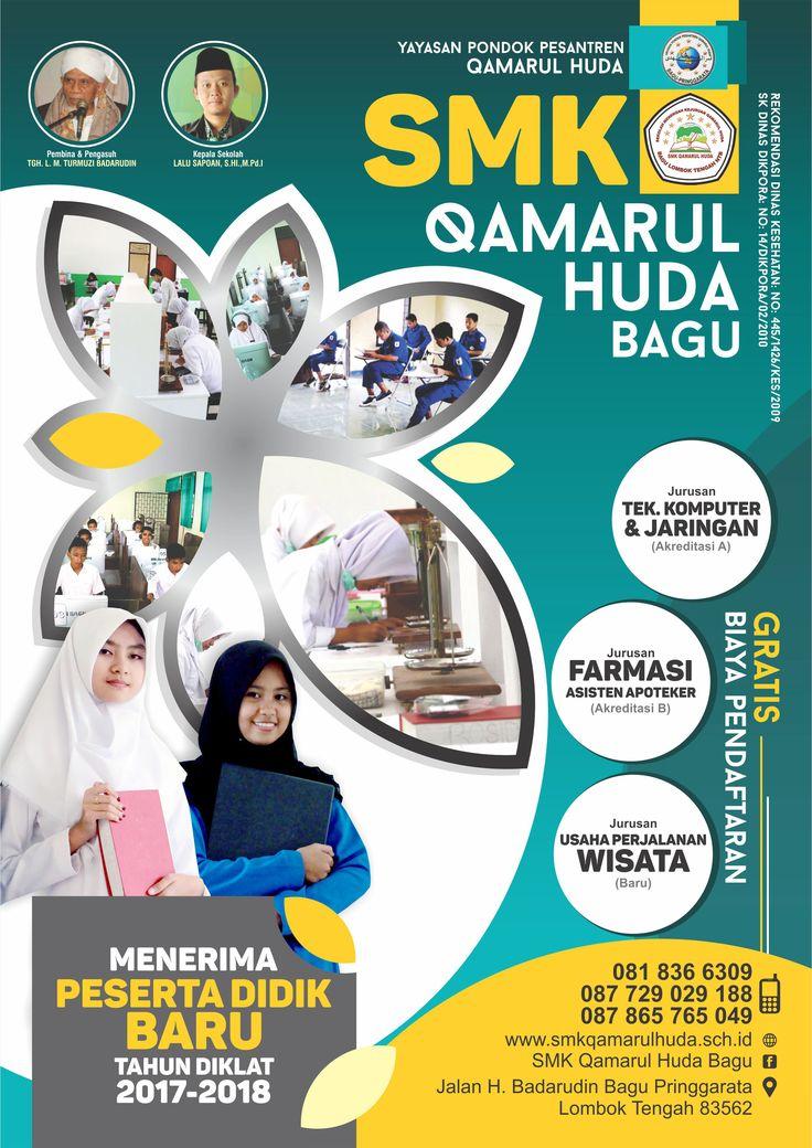 Brosur Sekolah Client : SMK Qamarul Huda - Lombok NTB