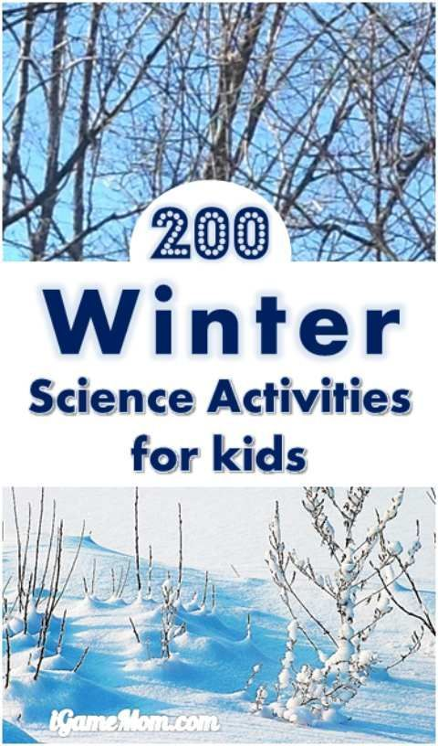 Over 200 winter science activities for kids, ice, snow, cold, or just something to do in the kitchen. A wonderful STEM resource for classroom teachers, homeschool families, or parents looking for after school program curriculum