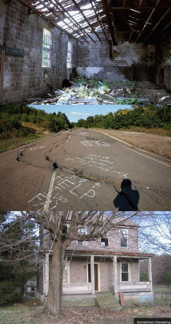 The bizarre ghost town with an eternal, underground fire, Centralia Pennsylvania.