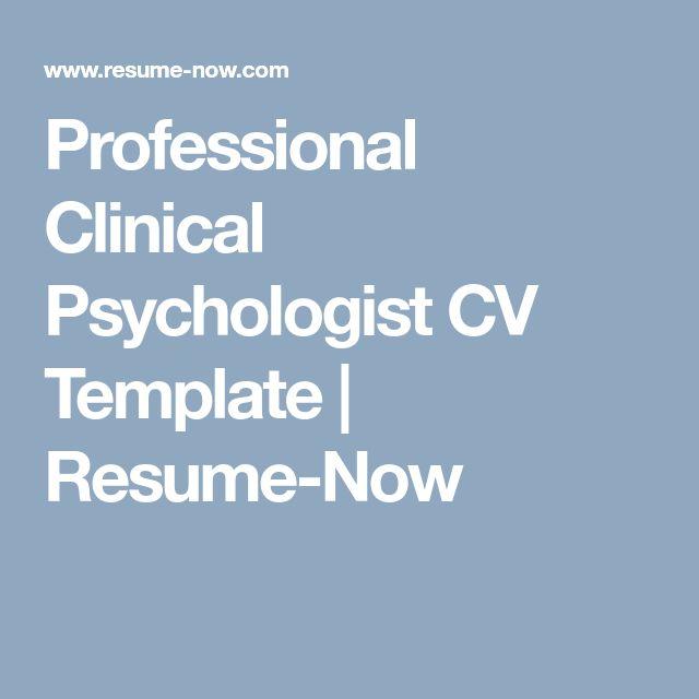 Clinical Psychologist Resume Sample: Best 25+ Clinical Psychologist Ideas On Pinterest