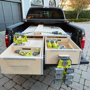 Check out this project on RYOBI Nation - As a contractor, I'm constantly on the move and need my tools to follow me to every job site. Complete with easy-access tool storage and the ability to create multiple work spaces, I'm never without my shop on the job.   See it in action at RYOBINation.com/RYOBIBuildOff!