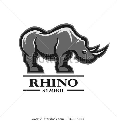 Rhino for the symbol, logo, labels, and other design. Artistic silhouette of…