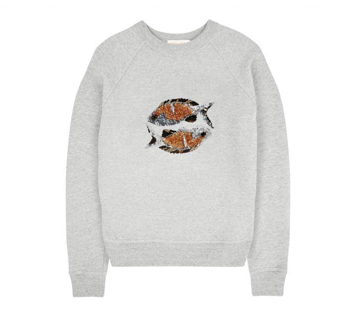 Uzma Bozai - Pisces Sweatshirt - Grey Marl