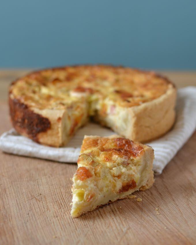 Ich back's mir: Lauch-Quiche mit Mozzarella - schmeckt sowohl warm als auch kalt unglaublich gut!