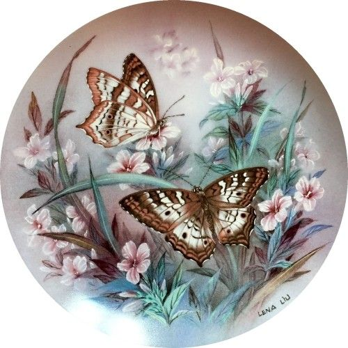 (99) Одноклассники butterfflies-round
