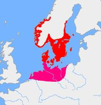Extent of Pre-Roman Iron Age settlements in Scandinavia, 4th century BC - 1st century BC