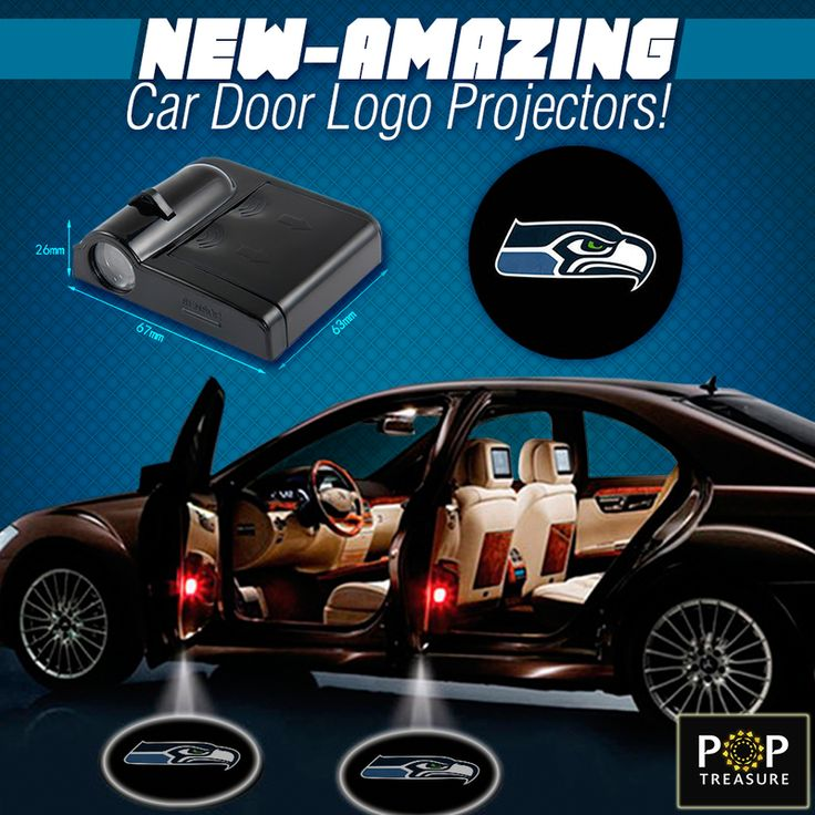 Seattle Dodge: 2 NFL Seattle Seahawks Wireless LED Car Door Projectors