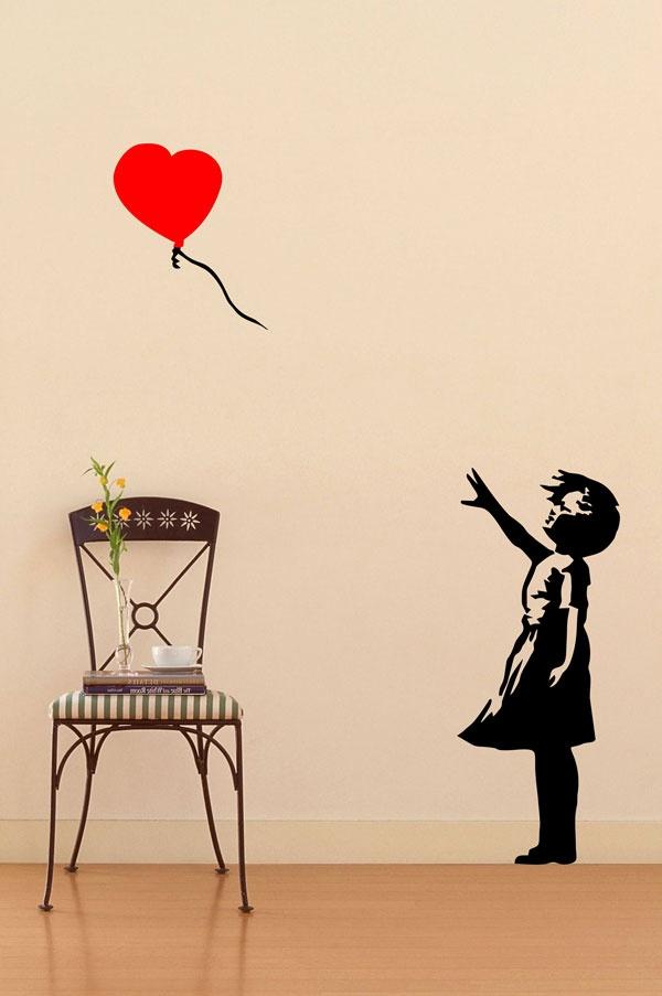 Kaçan Balon: Duvar sticker 50X70 cm.